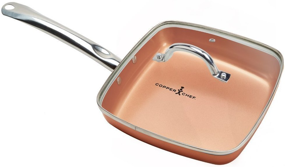 "Copper Chef Square Fry Pan with Lid (9.5"") - Review"