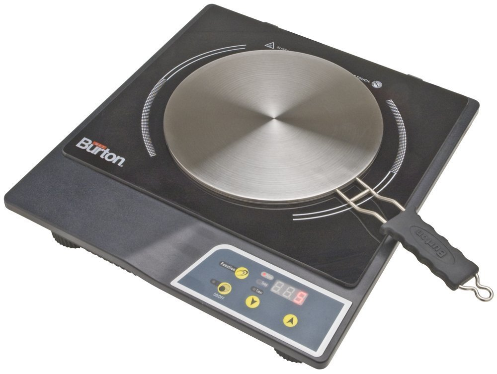 Max Burton 6015 Model 1800 Watts Portable Induction Cooktop Stove And Interface Disk Combination Set